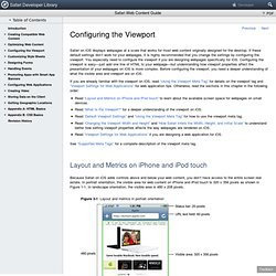 Safari Web Content Guide: Configuring the Viewport