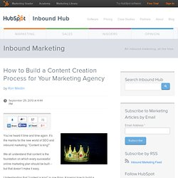 How to Build a Content Creation Process for Your Marketing Agency