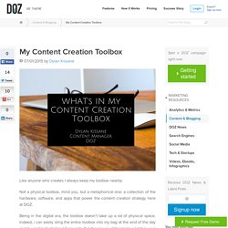 My Content Creation Toolbox