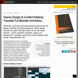 Game design and content creation tutorials for Blender, 3DS Max and more