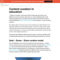 Content curation in education – The Edynco blog