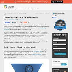 Content curation in education