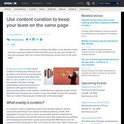 Use content curation to keep your team on the same page — Online Collaboration