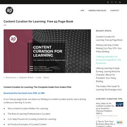 Content Curation for Learning: Free 93 Page Book