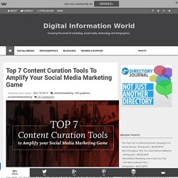 Top 7 Content Curation Tools To Amplify Your Social Media Marketing Game
