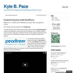 Content Curation with PearlTrees