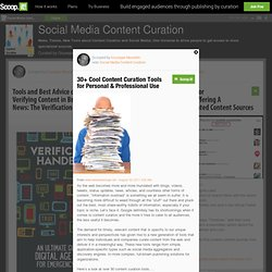 30+ Cool Content Curation Tools for Personal & Professional Use | Social Media Content Curation