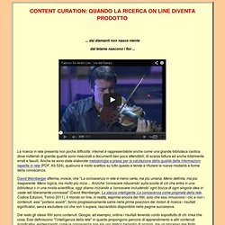 Content Curation: ricerca e produzione on line