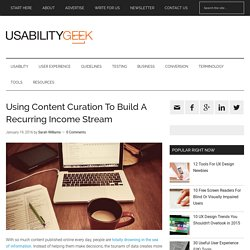 Using Content Curation To Build A Recurring Income Stream