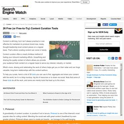 26 Free (or Free-to-Try) Content Curation Tools