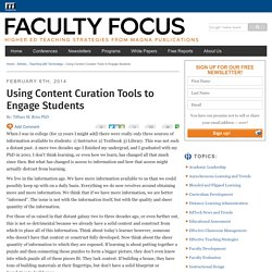 Using Content Curation Tools to Engage Students