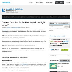 Content Curation Tools: How to pick the right venue? - HiveFire on Content Curation