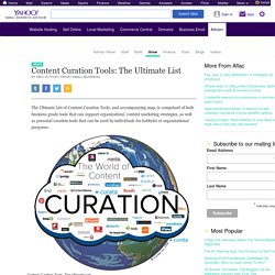 A Comprehensive List of Curation Platforms
