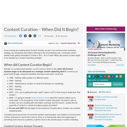 Curadoria de conteúdo – Quando isso começou? (em inglês)