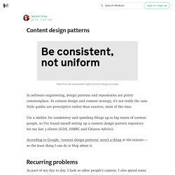 Content design patterns