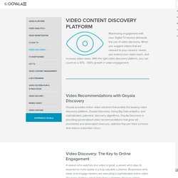 Video Content Discovery Platform