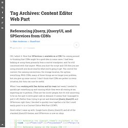 Content Editor Web Part