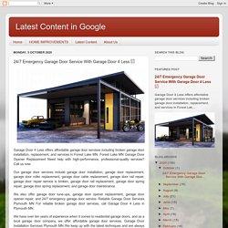 Latest Content in Google : 24/7 Emergency Garage Door Service With Garage Door 4 Less □