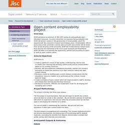 Open content employability project