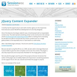 jQuery Content Expander - Sessionwise