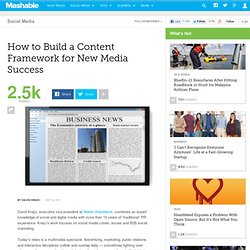 How to Build a Content Framework for New Media Success