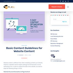 Basic Content Guidelines for Website Content