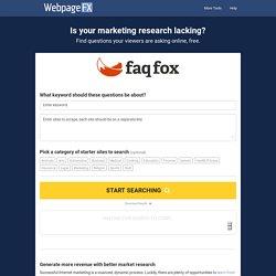 Content Idea & Market Research Tool