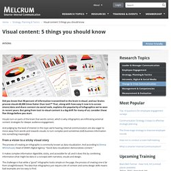 Visual content: 5 things you should know