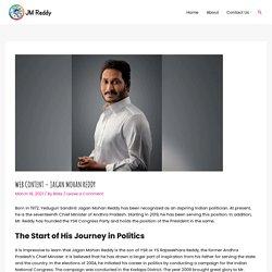 Web Content - Jagan Mohan Reddy - CM jagan Mohan Reddy Fan Site