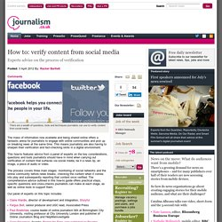 How to: verify content from social media