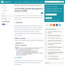 14 Free Wiki Content Management Systems (CMS)