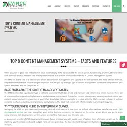 Top 8 Content Management Systems – Facts and Features