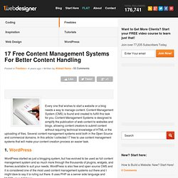 17 Free Content Management Systems For Better Content Handling | Graphic and Web Design Blog