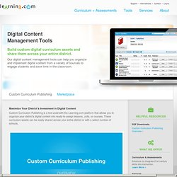 Sky - Digital Learning Environment meets Content Management System