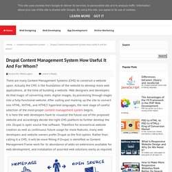 Drupal Content Management System How useful it and for whom? - MindLogics Blog