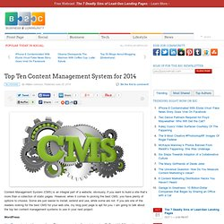Top Ten Content Management System for 2014