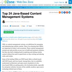 Top 24 Java-Based Content Management Systems