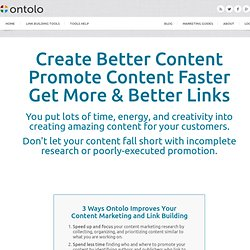 Plans and Pricing for the Ontolo Link Building Toolset