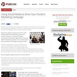Using Social Media to Drive Your Content Marketing Campaign
