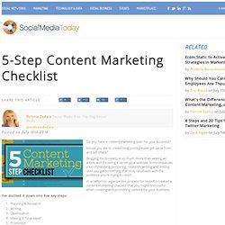 5-Step Content Marketing Checklist