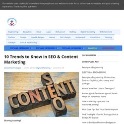 10 Trends to Know in SEO & Content Marketing