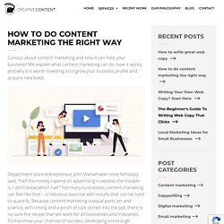 How to do content marketing the right way