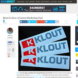 Klout Is Now a Content Marketing Tool