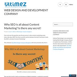 Why SEO is all about Content Marketing? Is there any secret!