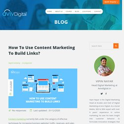 10 Ways to Build Links with Content Marketing