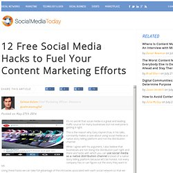 Free Social Media Hacks for Content Marketing