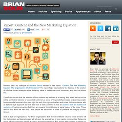 Report: Content and the New Marketing Equation