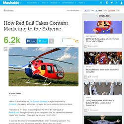 How Red Bull Takes Content Marketing to the Extreme