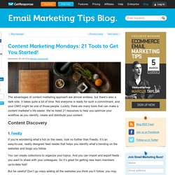 Content Marketing Mondays: 21 Tools to Get You Started!