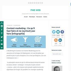 Content marketing : Ce qu'il faut faire et ne (surtout) pas faire [Infographie]